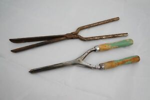 Lot of 2 Vintage Thin Curling Irons Smaller Curls Hair Curler 1930-40