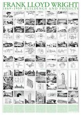 Frank lloyd wright buildings and projects poster Art Imprimé Image 70x100cm