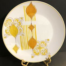 Mikasa Cera Stone Zephyr 3145 Serving Platter Orange Yellow Mid Century Japan