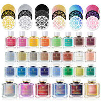 BORN PRETTY Nail Stamping Polish Black White Thermal Manicure Varnish 74 Color