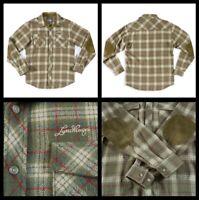 8442 LUNDHAGS Mens Hiking Hunting Track & Field Wool Blend Plaid Shirt Sz M