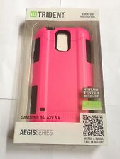 Trident Aegis Pink Black Case Cover & LCD Protector For Samsung Galaxy S5 i9600