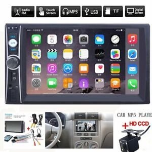 """2DIN 7"""" HD Car Stereo Radio MP5 Player Bluetooth Touch Screen With Rear Camera"""