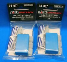 """LOT of 2 HO/N Scale KATO UNITRACK 24-827 3-Way Extension Cord-90cm (35"""") 1pc/pk"""