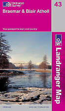 Breamar and Blair Atholl - OS Landranger Map 43 ( NEW 2011 folded sheet map)