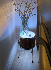 More details for quirky drum table cool retro furniture with storage & lights up-cycled free p&p