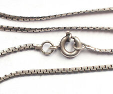 Stunning 925 Sterling Silver Foxtail Snake Link Chain Necklace Vintage Retro