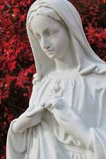 Immaculate Heart Mary 24 inch Statue Indoor Outdoor Garden Decor Indestructible