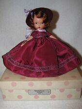 Vintage #92 Season/Autumn Bisque Nancy Ann Storybook Doll Pink Polka Dot Box