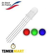 LED transparentes RGB RVB 5mm 4 broches CATHODE TimerMart