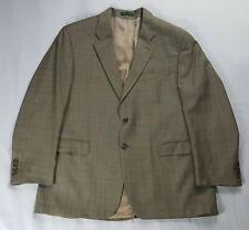 Vintage Lauren Ralph Lauren Wool Blazer Men's 46R Beige Plaid