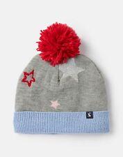 Joules Girls Halley Star Intarsia Hat - Grey Star - 3Yr-7Yr