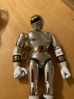 "1995 Bandai Power Rangers in Space 8"" Silver RangerMIGHTY MORPHIN POWER p79d"
