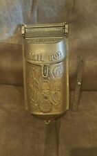 Vintage Brass Wall Mount Standard Delivery Box Mailbox Flower Shaped Peep Hole
