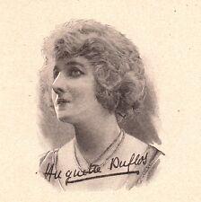 Portrait Huguette Duflos Hermance Joséphine Meurs Limoges Actrice Théâtre Cinéma