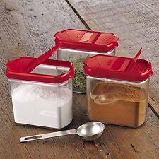 Prepworks Kitchen Spices Herbs Baking Storage Shaker Mini Keeper Progressive 3p.