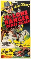 THE LONE RANGER RIDES AGAIN serial  on 2 VHS  tapes  starring  Bob  Livingston
