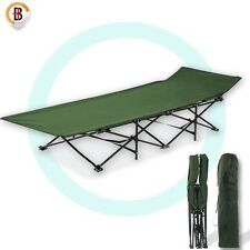 Camping Bed Folding Stretcher Light Weight with Carry Bag Camp Green Portable