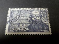 FRANCE 1951 timbre 909, PAUL VERLAINE, oblitéré, VF STAMP CELEBRITY