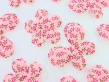 50 Vinatge Design Pink Floral Vine Cotton Print Butterfly+Flower Applique H497