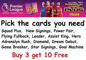Panini Premier League Plus Adrenalyn XL 2020/21 Pick Base and Foil Cards 20/21
