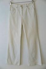 LAUREL ESCADA Off-White Flare Leg Stretch Cotton Blend Jeans Size 38 (US 8)
