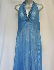 JOVANI PROM EVENING FORMAL DRESS Turquoise Blue Halter ~ Sz 4 ~ MSRP $419 ~NWT