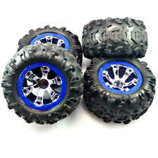Traxxas 1/16 Mini Summit VXL * FRONT & REAR CANYON TIRES & BLUE BEADLOCK WHEELS