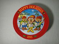 Vintage 1995 Keebler Happy Holidays Christmas Cookie Tin Collectible Container