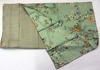 Nuit de Jade luxuriöser Kissenbezug japanisches Muster Baumwollsatin 80 x 80 cm