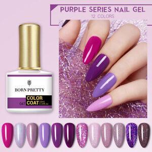 BORN PRETTY 10ml Purple Series Nail Gel Polish Glitter Sequins Soak Off Gel