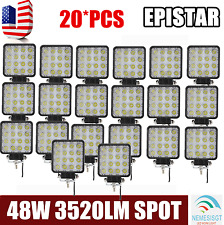 20X 48W LED Work Light SPOT Driving Lamp 12V 24V Offroad car boat Truck 4WD SUV