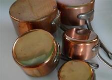 5 French copper pans 2.5mm saucepan cuisine professional casseroles en cuivre