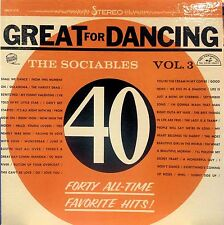 THE SOCIABLES GREAT FOR DANCING VOL. 3 LP 1961 STEREO 40 HITS