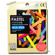 TEMPORARY PASTEL HAIR COLOR CHALK FLUORESCENT & AUXILIARY 18 COLORS DIP DYE DIY