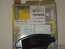 GENUINE RENAULT FRONT BRAKE PADS 7701209673 MEGANE 2/SCENIC 2 BARGAIN NEW