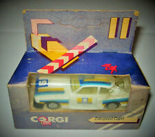 Alter Corgi, Ford Capri Gr. 5 Zakspeed, weiss/blau, ungeöffnet in OVP, Rarität