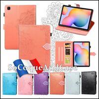 Etui Coque Housse MANDALA Cuir PU Leather Case Tablet Samsung Galaxy Tab A7 2020