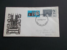 1966 Westminster Abbey Set on First Day Cover with Bristol FDI Cancel Cat £15