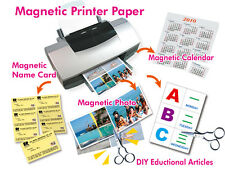 10 x A4 Magnetic Photo Paper Inkjet Printer Picture Print Cut Size Magnet Craft