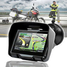 "4.3"" Waterproof GPS Bluetooth Motorcycle Sat Nav Car Bike Navigation System 8GB"