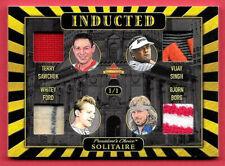 2020 Sawchuk - Whitey Ford - Singh - Borg President's Choice Solitaire 1/1 Relic