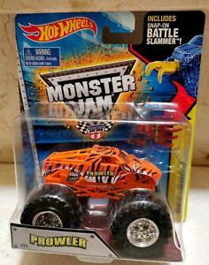 Hot Wheels MONSTER JAM PROWLER THE TIGER EL TIGRE Cuerpo Naranja + Garra Batalla