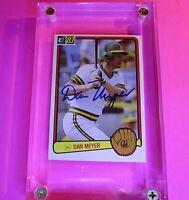 Dan Meyer Signed Baseball card, 1983 Donruss #413 AUTOGRAPH AUTO Athletics