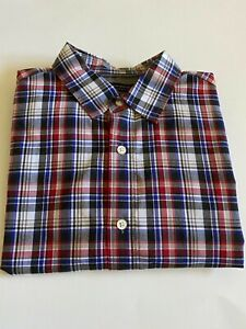 Men's Banana Republic Grant Fit Checkered Button Up Shirt Small