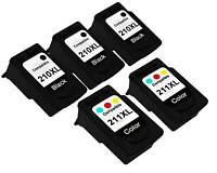 5PK Ink FOR CANON PG-210XL CL-211XL PG210XL CL211XL PIXMA IP2702 MP230 MP240