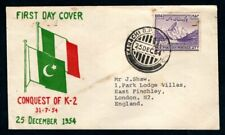Pakistan - 1954 Conquest of K-2 First Day Cover