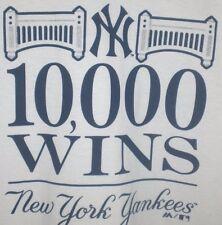 NEW YORK YANKEES T-SHIRT 10000 WINS MAJESTIC XL White NY Logo 2015 RARE
