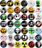 """Halloween 25mm 1"""" Pin Button Badges 42 Different Designs Various Fancy Dress Fun"""
