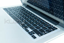 """Kuzy Black Keyboard Cover Silicone Skin for MacBook Pro 13 15"""" 17"""" With or"""